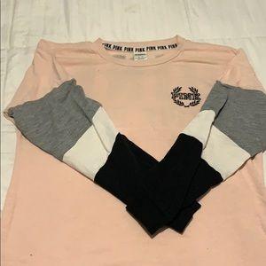 Pink crew necks